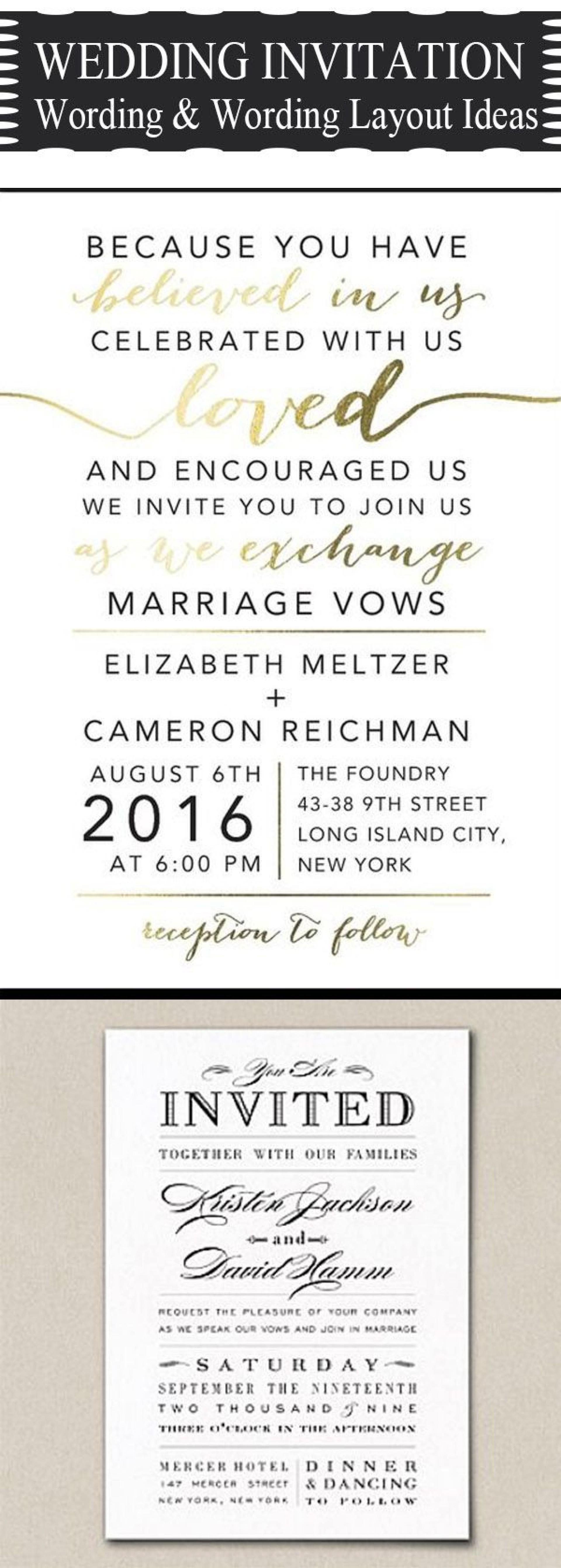 007 Rare Formal Wedding Invitation Wording Template Sample  Templates1920