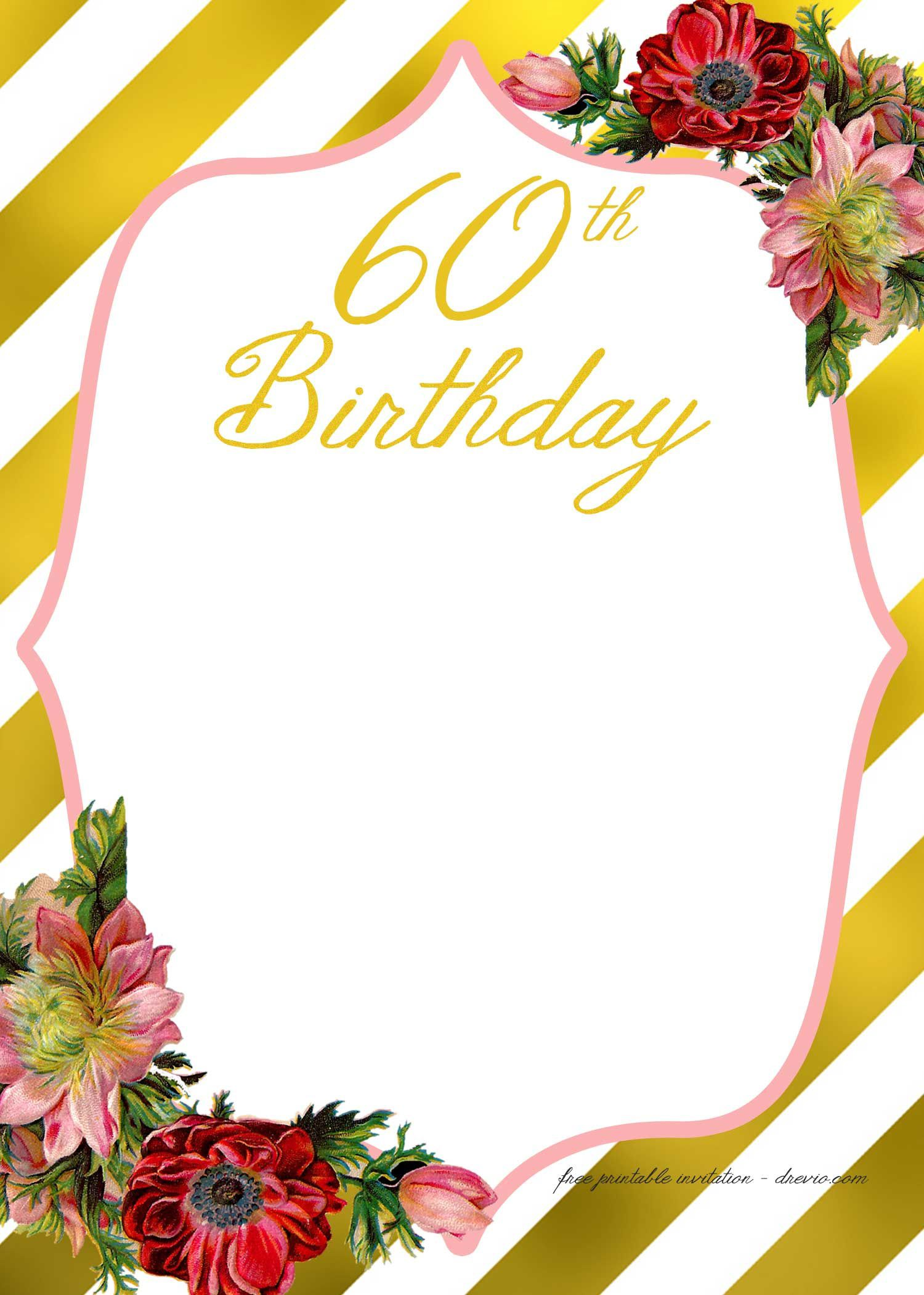 007 Rare Free 60th Birthday Invitation Template High Def  Templates Surprise Download For Word PartyFull