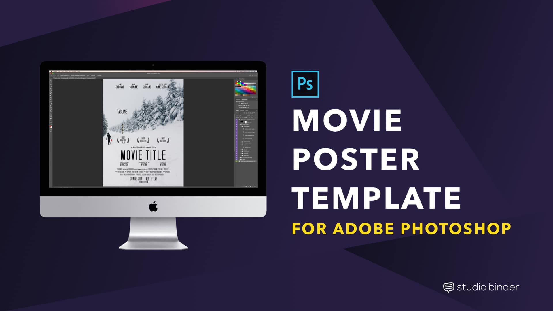 007 Rare Free Photoshop Movie Poster Template Picture  TemplatesFull