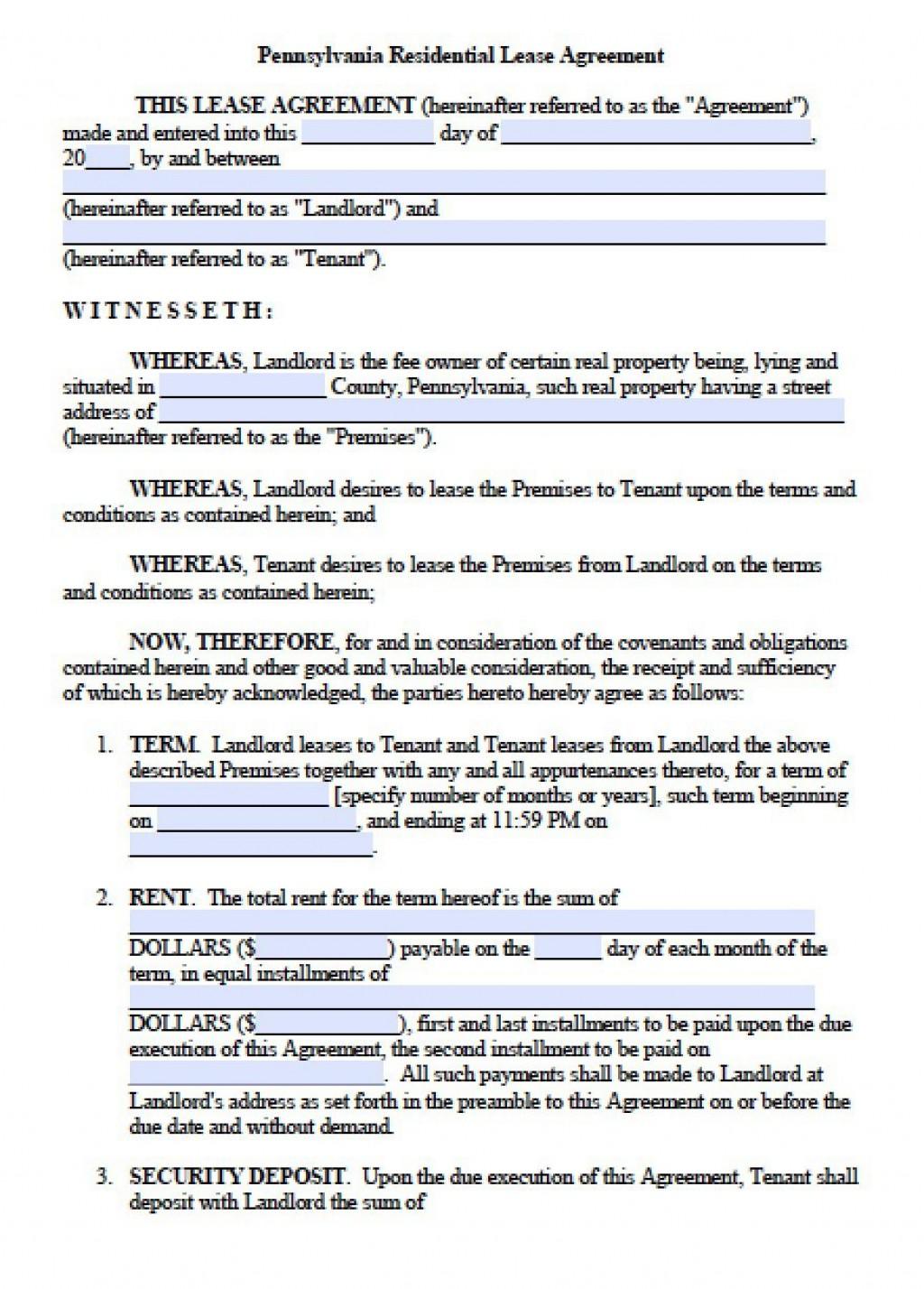 007 Rare Generic Rental Lease Agreement Image  Sample Ohio Md IllinoiLarge