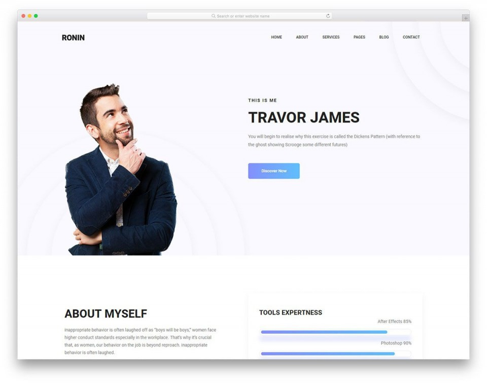 007 Rare Personal Website Template Bootstrap Highest Clarity  4 Free Download Portfolio960