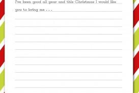 007 Rare Printable Wish List Template High Resolution  Santa Free Secret