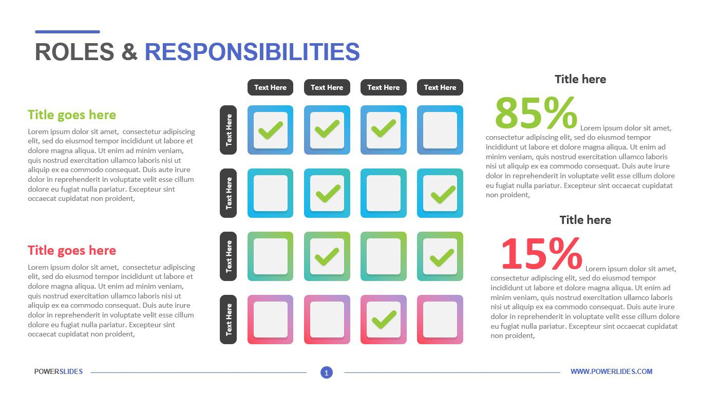 007 Rare Project Role And Responsibilitie Template Powerpoint Highest Quality Full