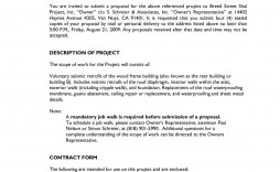 007 Rare Request For Proposal Response Word Template Concept
