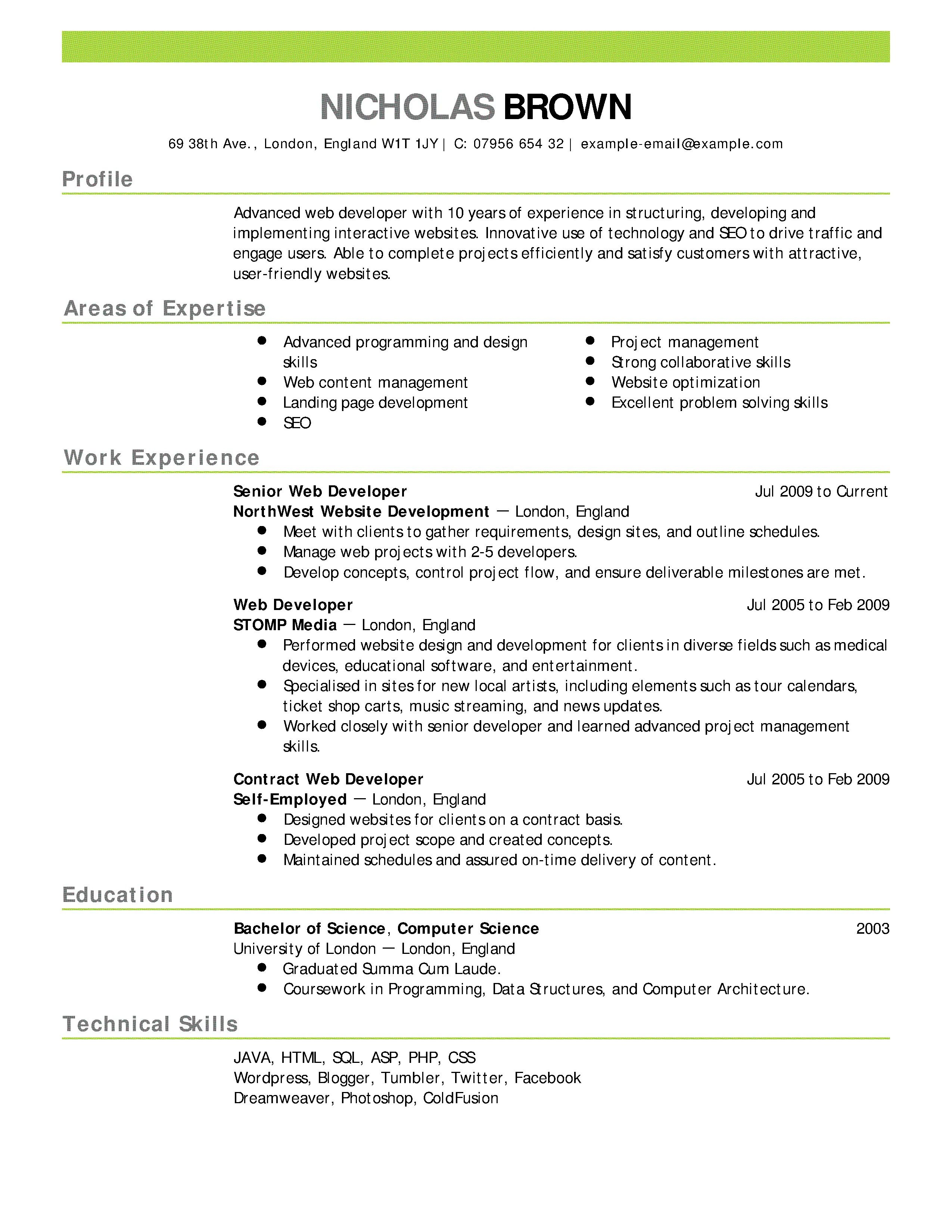 007 Rare Resume Template For Wordpad Picture  Free Cv DownloadFull