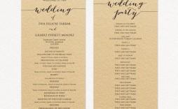 007 Rare Template For Wedding Program Example  Word Free Catholic