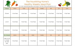 007 Rare Weekly Eating Plan Template Photo  Food Planner Excel Meal Download