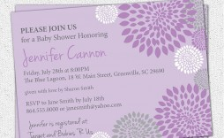 007 Remarkable Baby Shower Invitation Girl Purple Concept
