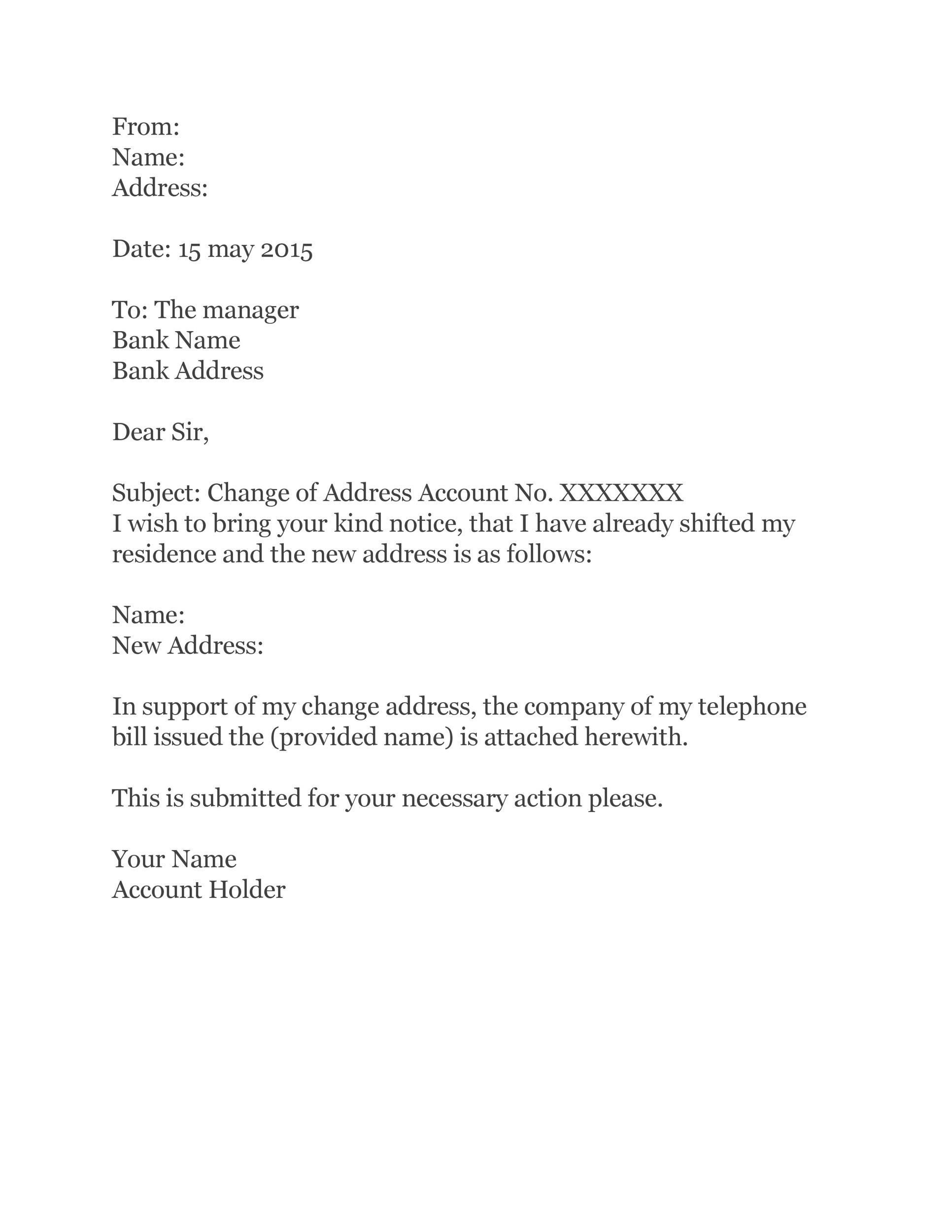 Change Of Address Letter To Vendors from www.addictionary.org