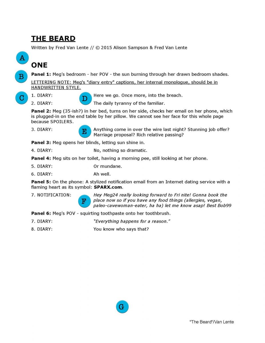 007 Remarkable Comic Book Script Writing Format Image  ExampleFull