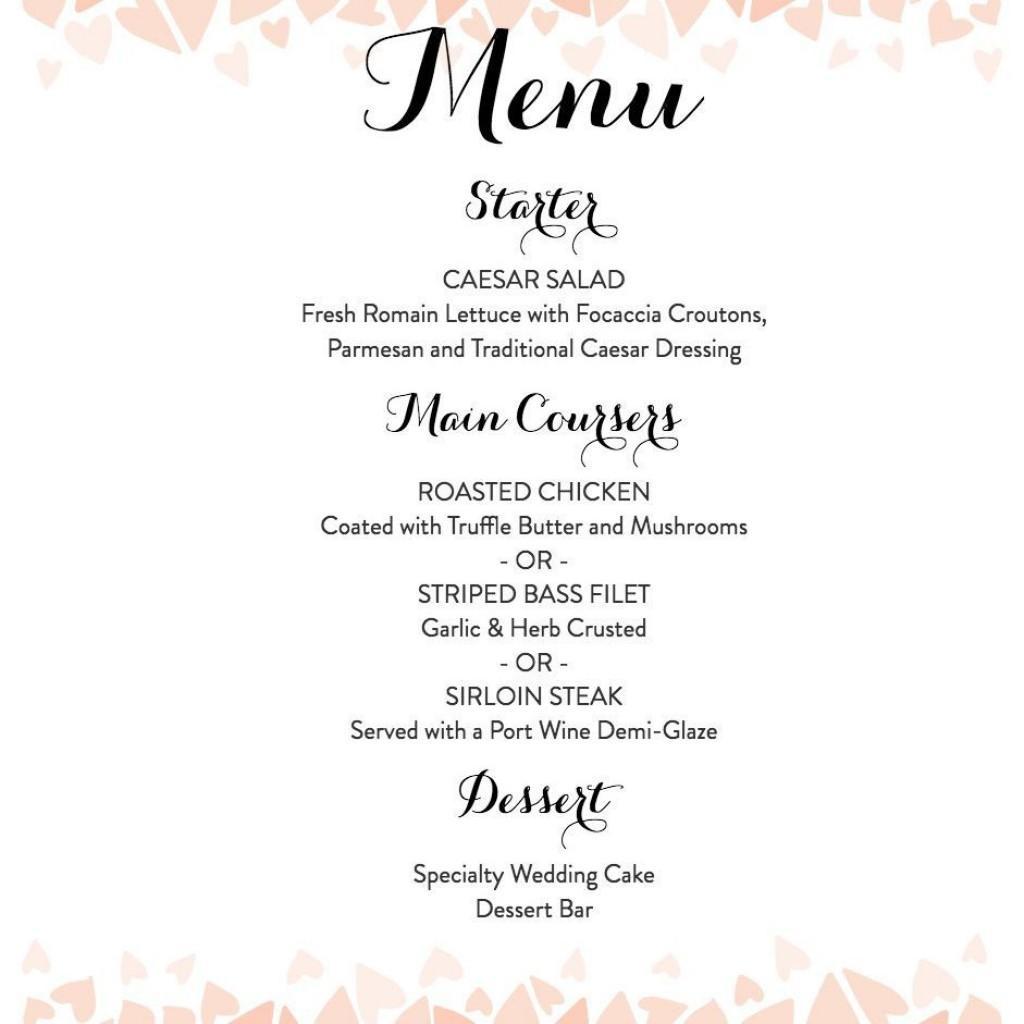 007 Remarkable Diy Wedding Menu Template Highest Quality  Free CardLarge