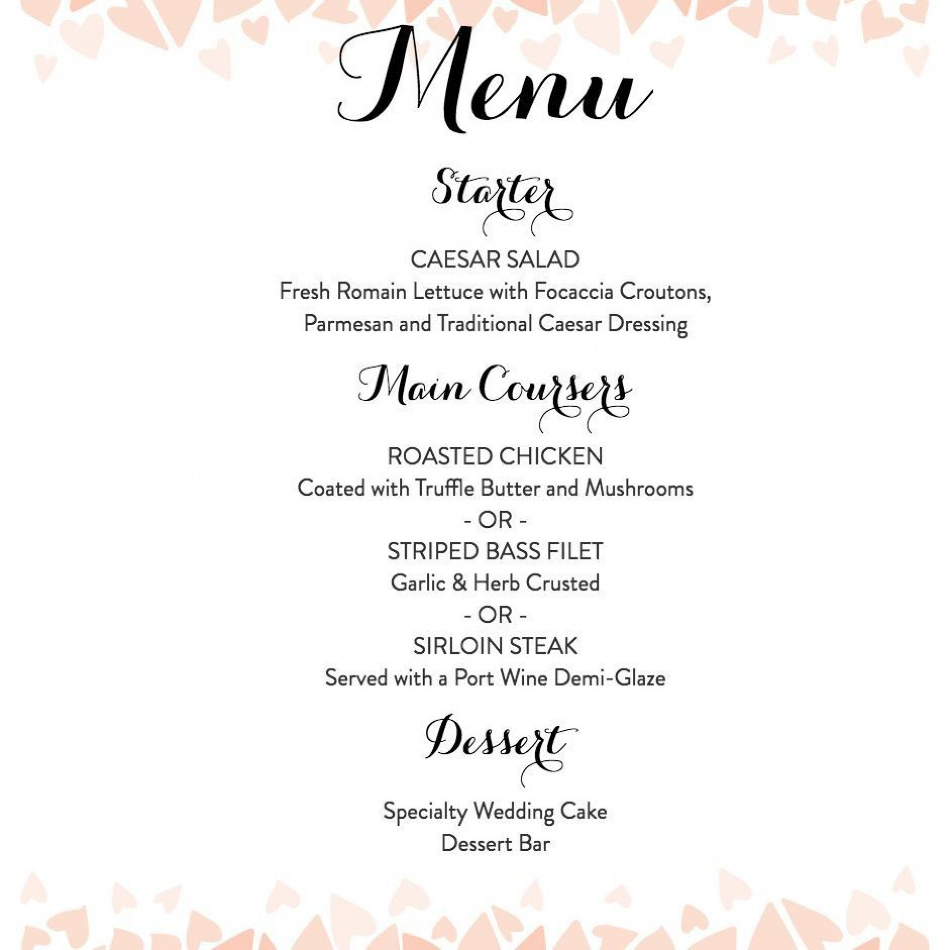 007 Remarkable Diy Wedding Menu Template Highest Quality  Free Card1920