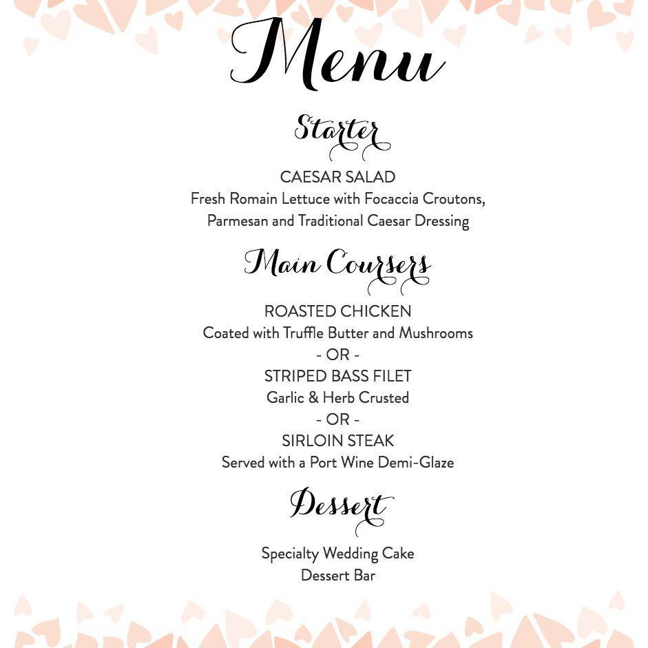 007 Remarkable Diy Wedding Menu Template Highest Quality  Free CardFull