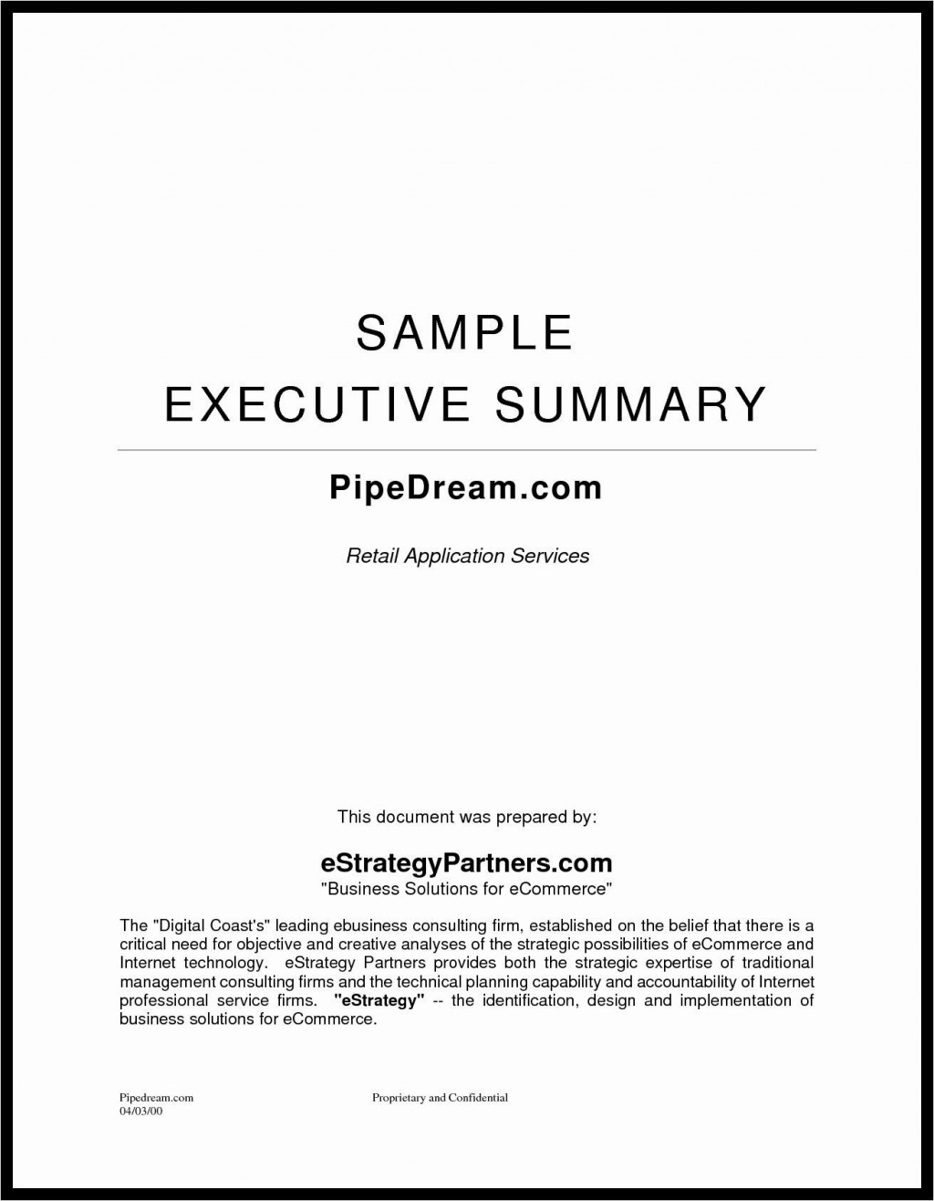 007 Remarkable Executive Summary Template Word Free Inspiration Large