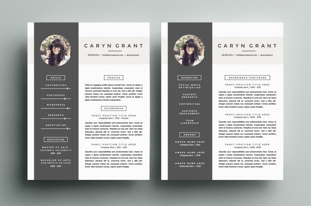 007 Remarkable Eye Catching Resume Template Photo  Microsoft Word Free Download MostLarge