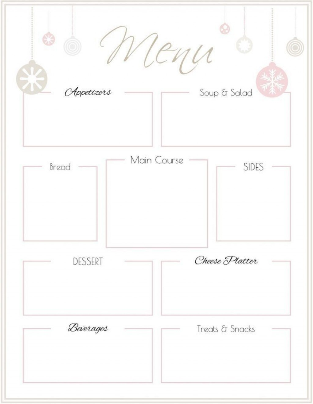 007 Remarkable Free Printable Menu Template Picture  For Dinner Party FamilyLarge