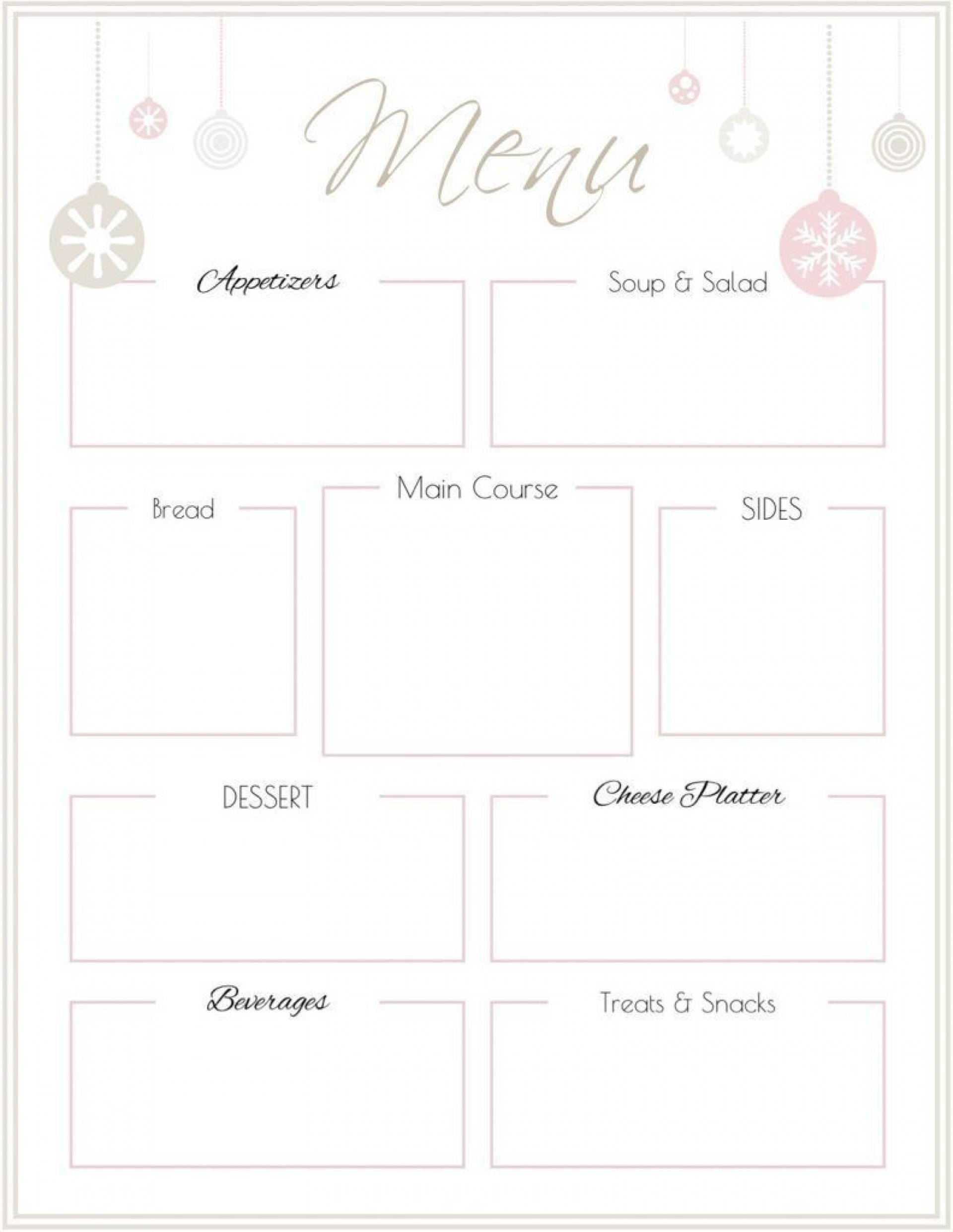 007 Remarkable Free Printable Menu Template Picture  For Dinner Party Family1920