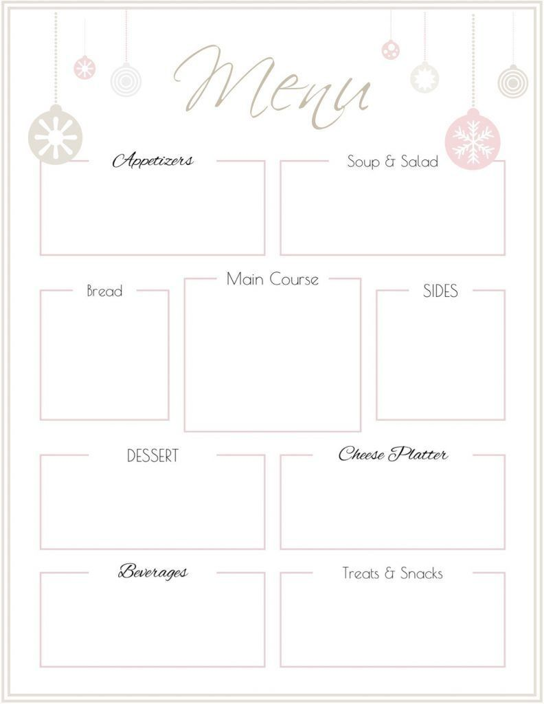 007 Remarkable Free Printable Menu Template Picture  For Dinner Party FamilyFull