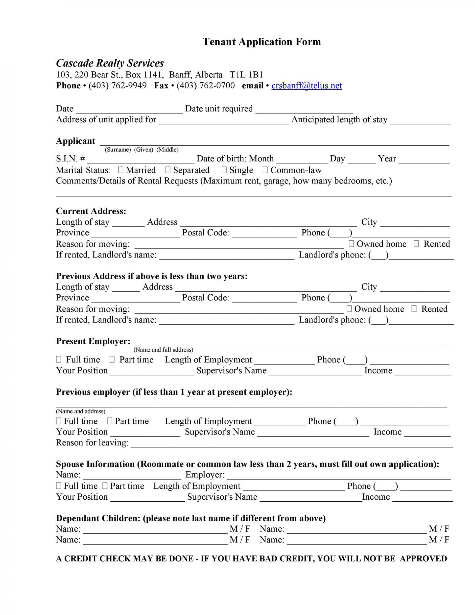 007 Remarkable Free Rental Application Template Highest Quality  Form Oregon Credit Online1920