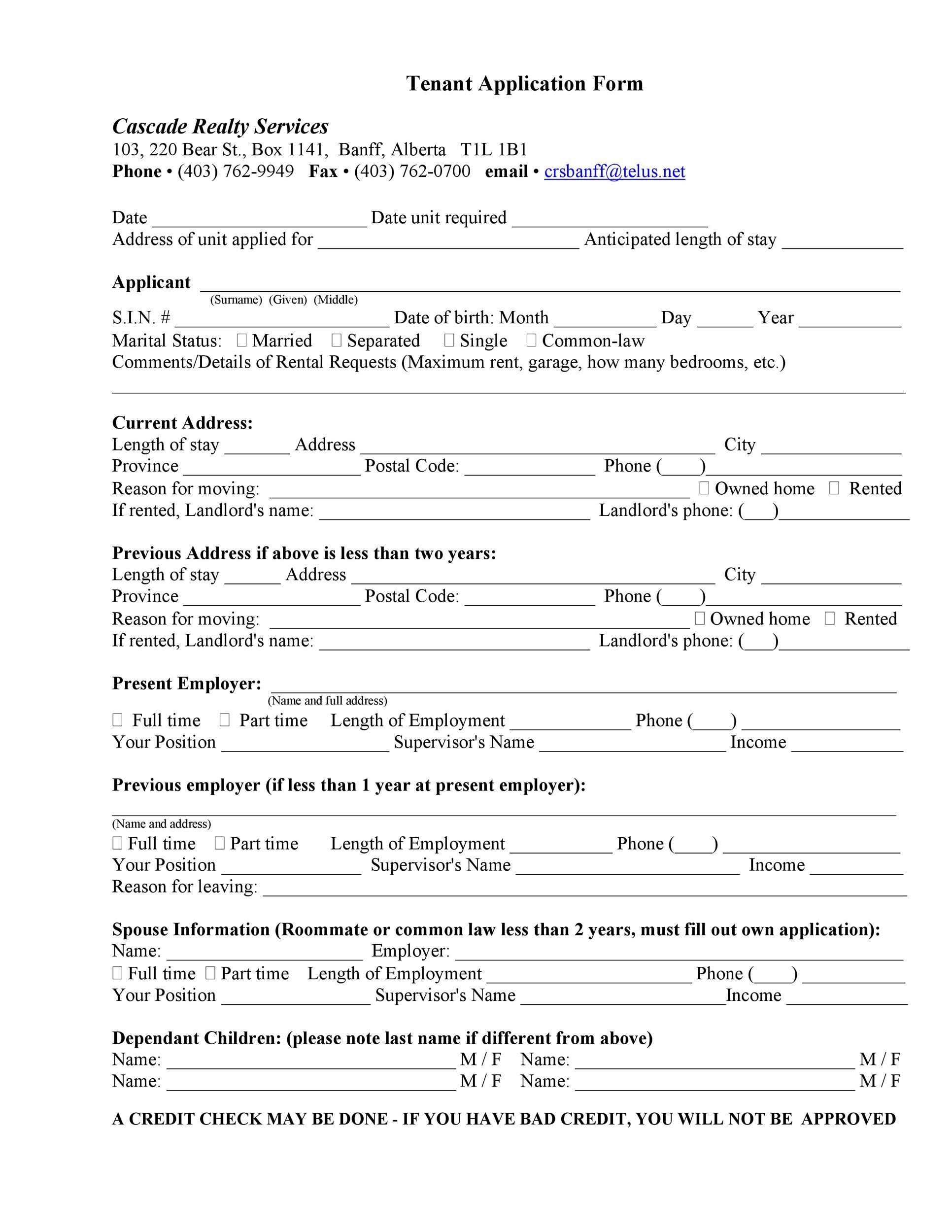 007 Remarkable Free Rental Application Template Highest Quality  Form Oregon Credit OnlineFull