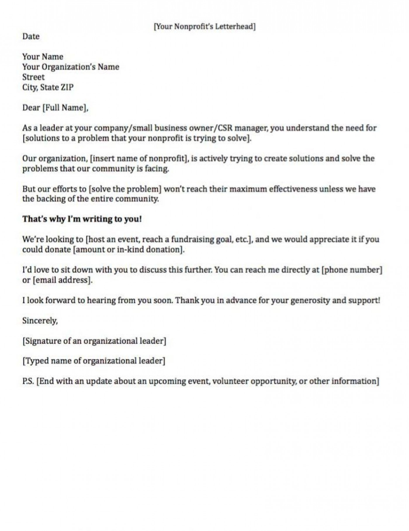 007 Remarkable Fund Raising Letter Template High Resolution  Fundraising For Mission Trip School Sample Of A Nonprofit Organization1400