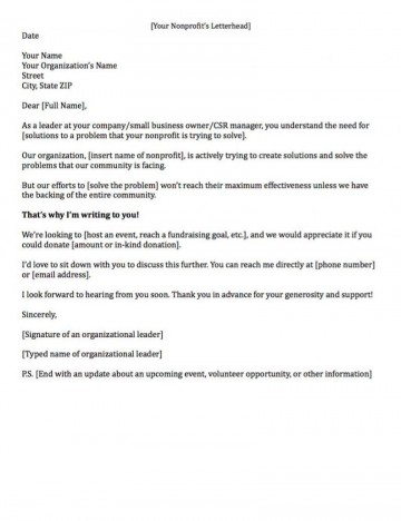 007 Remarkable Fund Raising Letter Template High Resolution  Fundraising For Mission Trip School Sample Of A Nonprofit Organization360