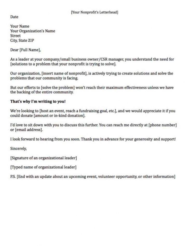 007 Remarkable Fund Raising Letter Template High Resolution  Fundraising For Mission Trip School Sample Of A Nonprofit Organization728