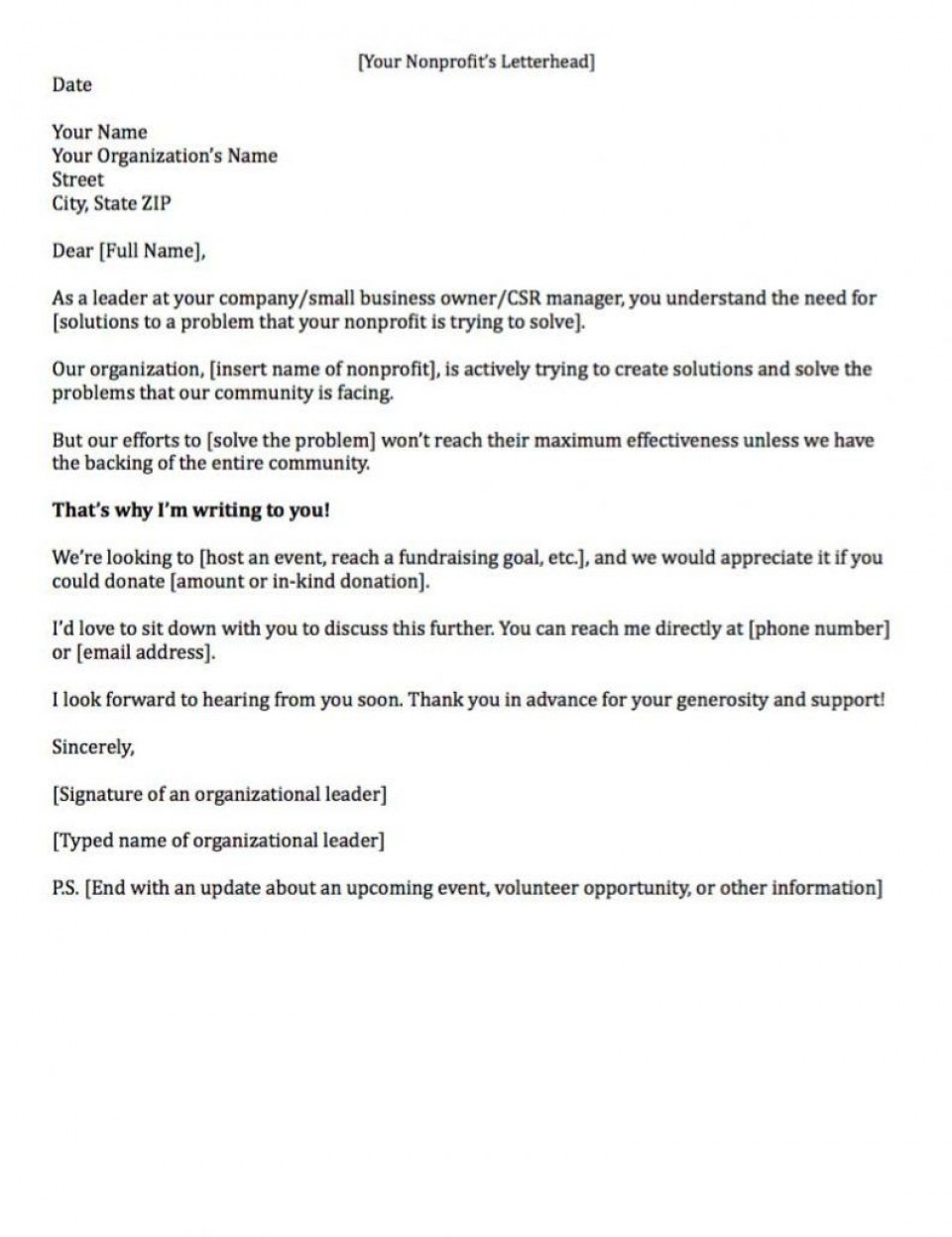 007 Remarkable Fund Raising Letter Template High Resolution  Fundraising For Mission Trip School Sample Of A Nonprofit Organization960