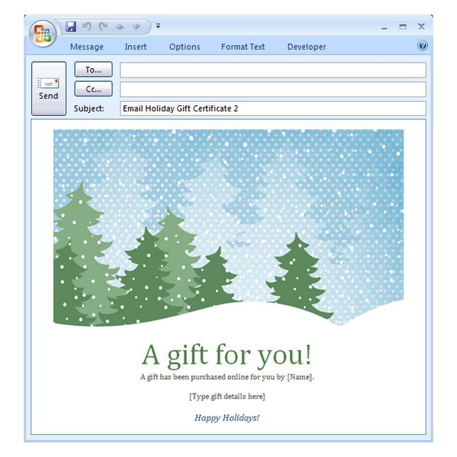 007 Remarkable Holiday E Mail Template Highest Quality  Email Outlook Christma For MessageFull