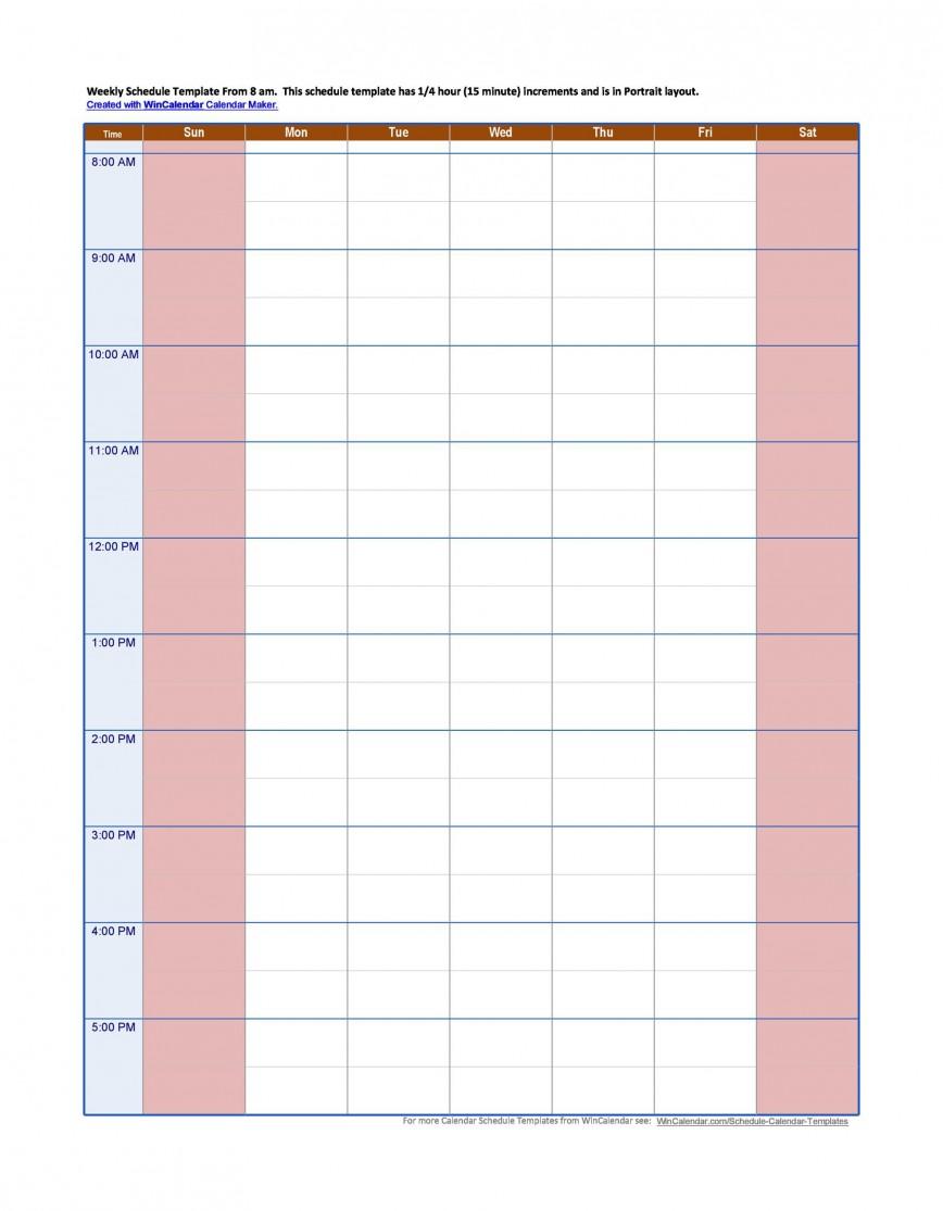 007 Remarkable Hourly Schedule Template Word Image  Work Weekly Calendar Microsoft