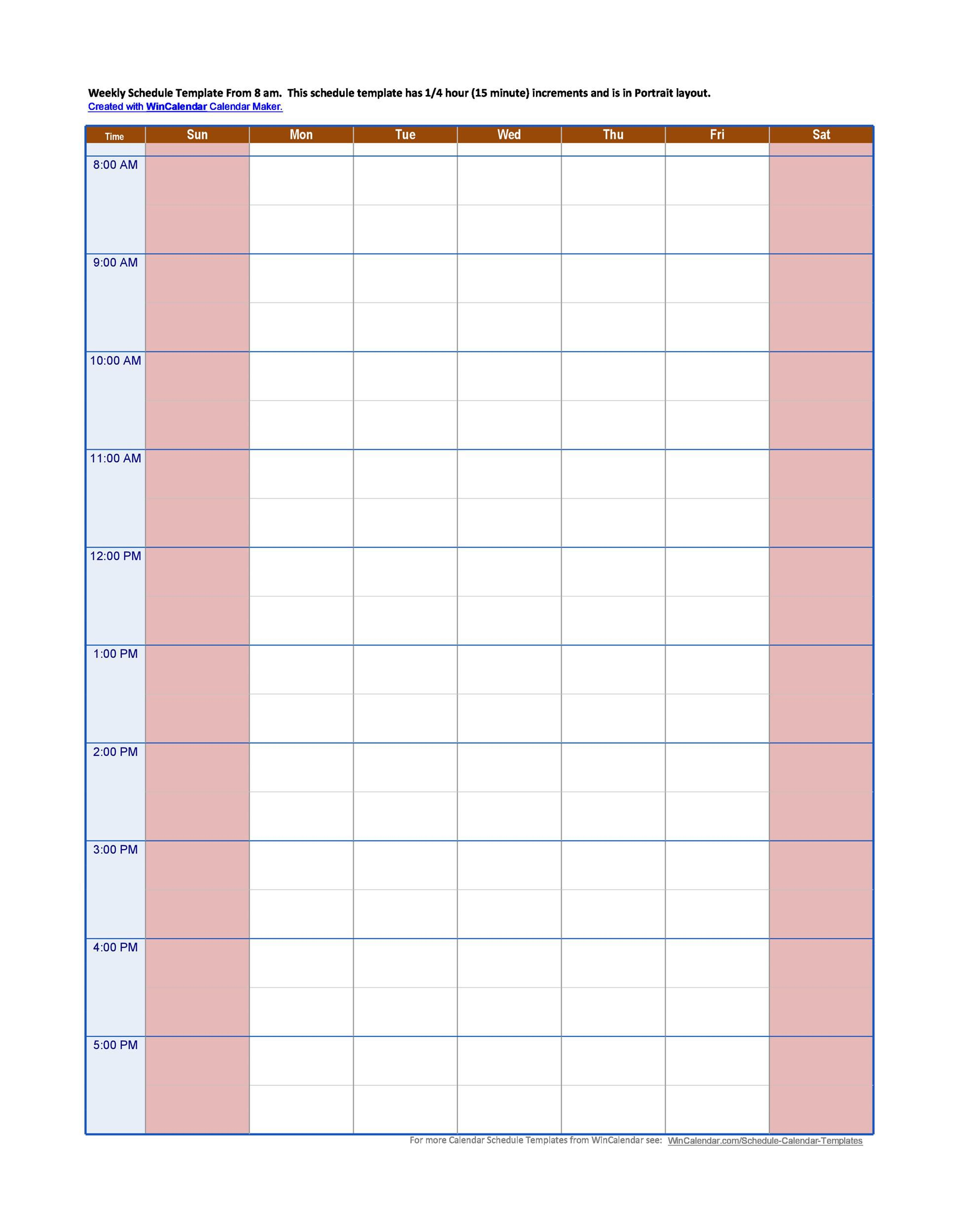 007 Remarkable Hourly Schedule Template Word Image  Calendar Microsoft WorkFull
