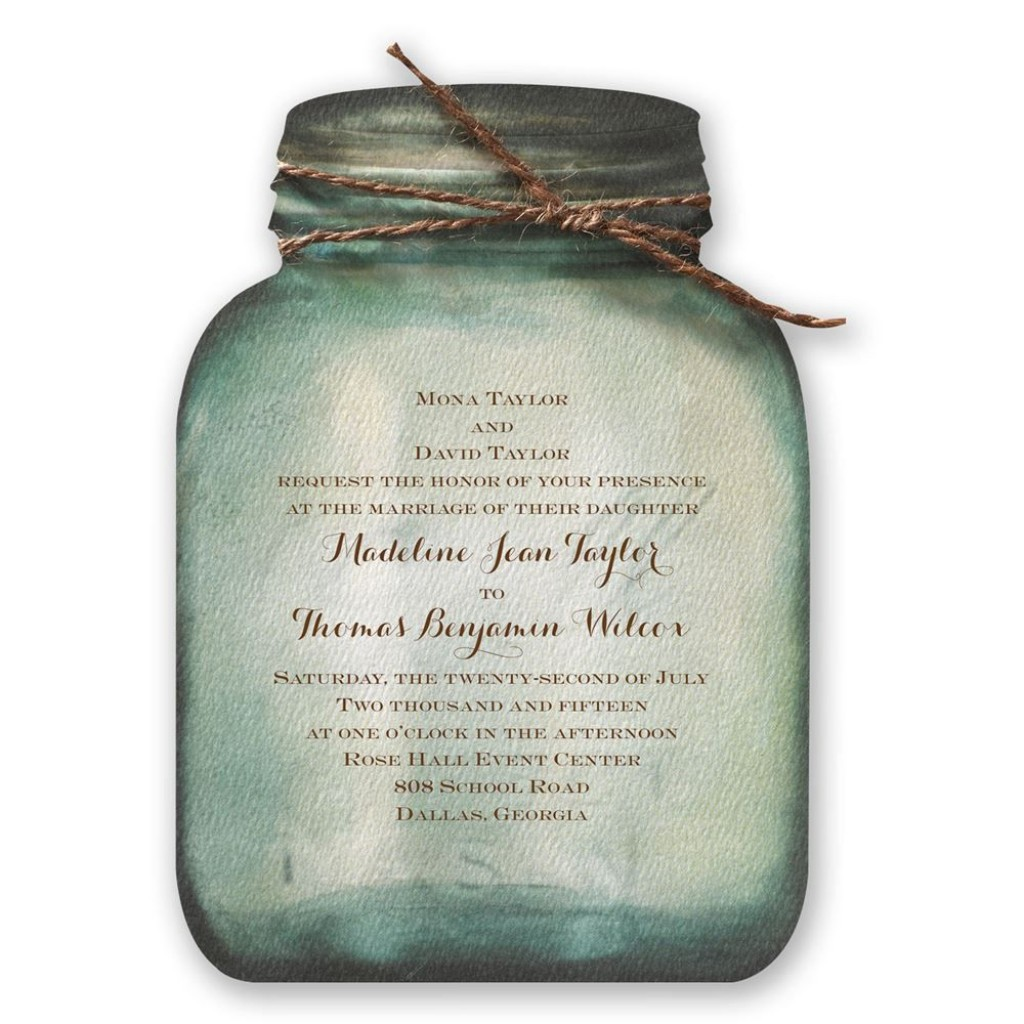 007 Remarkable Mason Jar Invitation Template Image  Free Wedding Shower RusticLarge