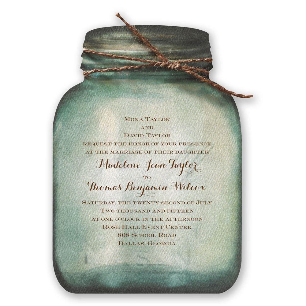 007 Remarkable Mason Jar Invitation Template Image  Free Wedding Shower RusticFull