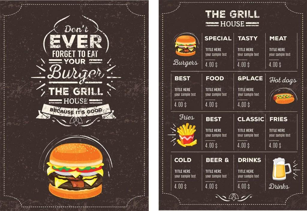 007 Remarkable Menu Card Template Free Download Concept  Indian Restaurant Design CafeLarge
