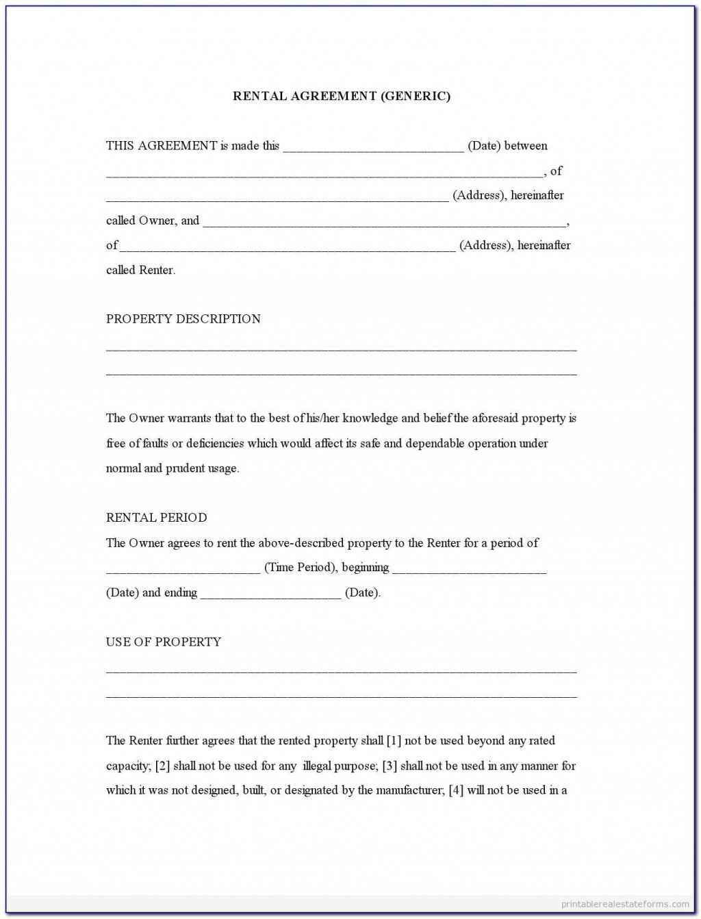 007 Remarkable Rental Agreement Template Word Canada Highest Clarity Large