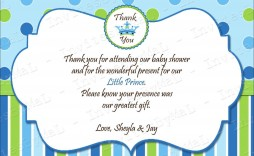 007 Remarkable Thank You Card Wording Baby Shower Gift Photo  For Multiple Group