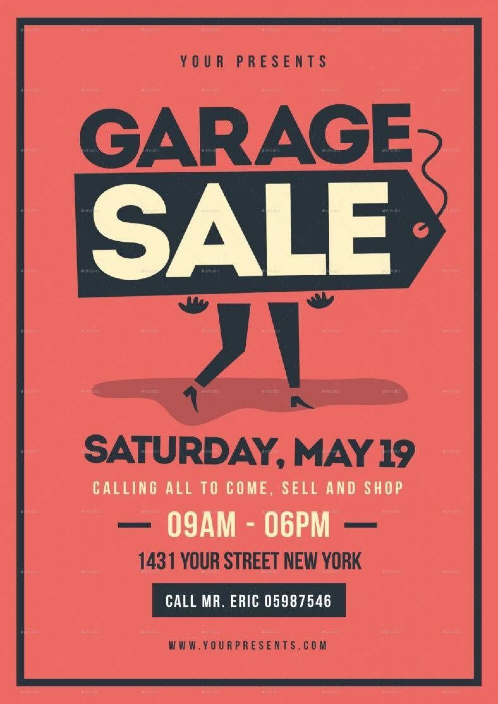 007 Remarkable Yard Sale Flyer Template Free Highest Quality  Community Garage1920