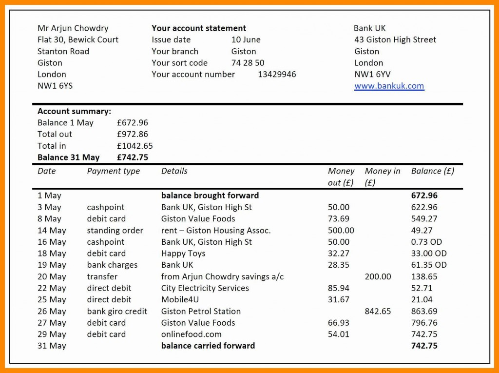 007 Sensational Bank Reconciliation Statement Format Excel Sheet High Definition  DownloadLarge