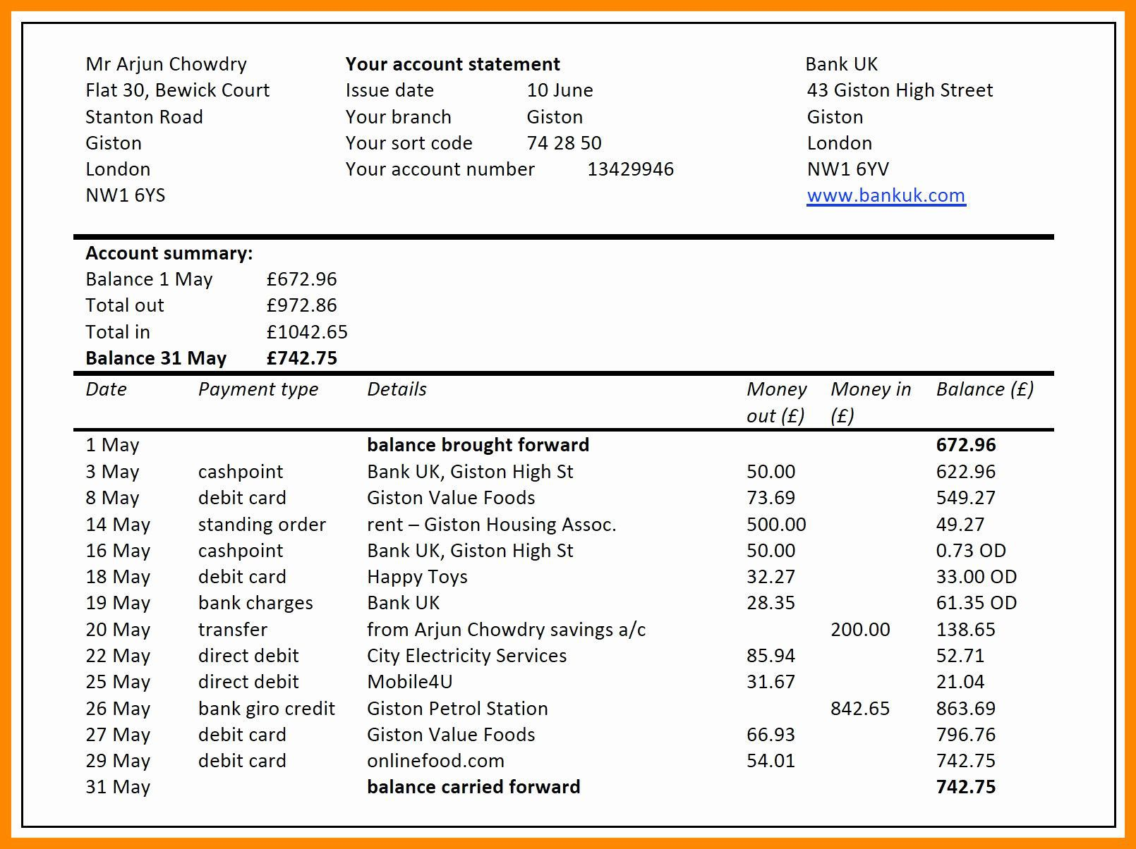 007 Sensational Bank Reconciliation Statement Format Excel Sheet High Definition  DownloadFull