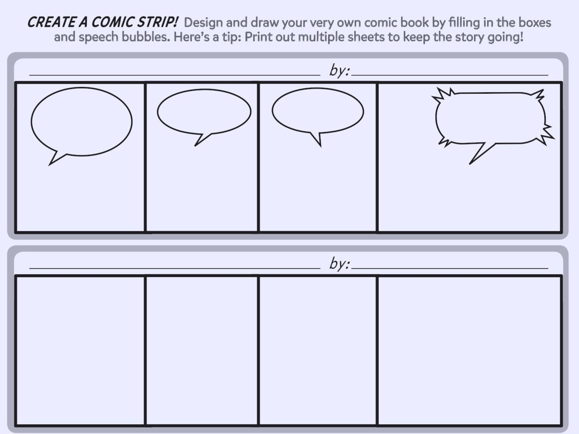 007 Sensational Comic Strip Layout For Word High Definition  Book Script Template Microsoft Doc1920