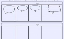 007 Sensational Comic Strip Layout For Word High Definition  Book Script Template Microsoft Doc