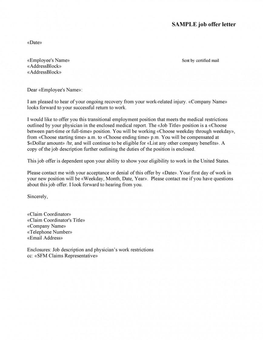 007 Sensational Counter Offer Letter Template Concept  Debt Settlement Job Severance