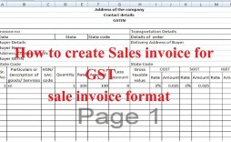 007 Sensational Excel Gst Invoice Format Download Image  In Pdf Tally Tax Free Sheet