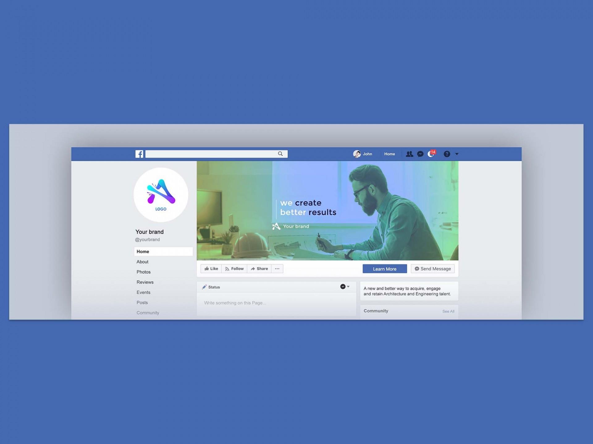 007 Sensational Facebook Cover Photo Photoshop Template Concept  2019 Page Profile Picture Size1920
