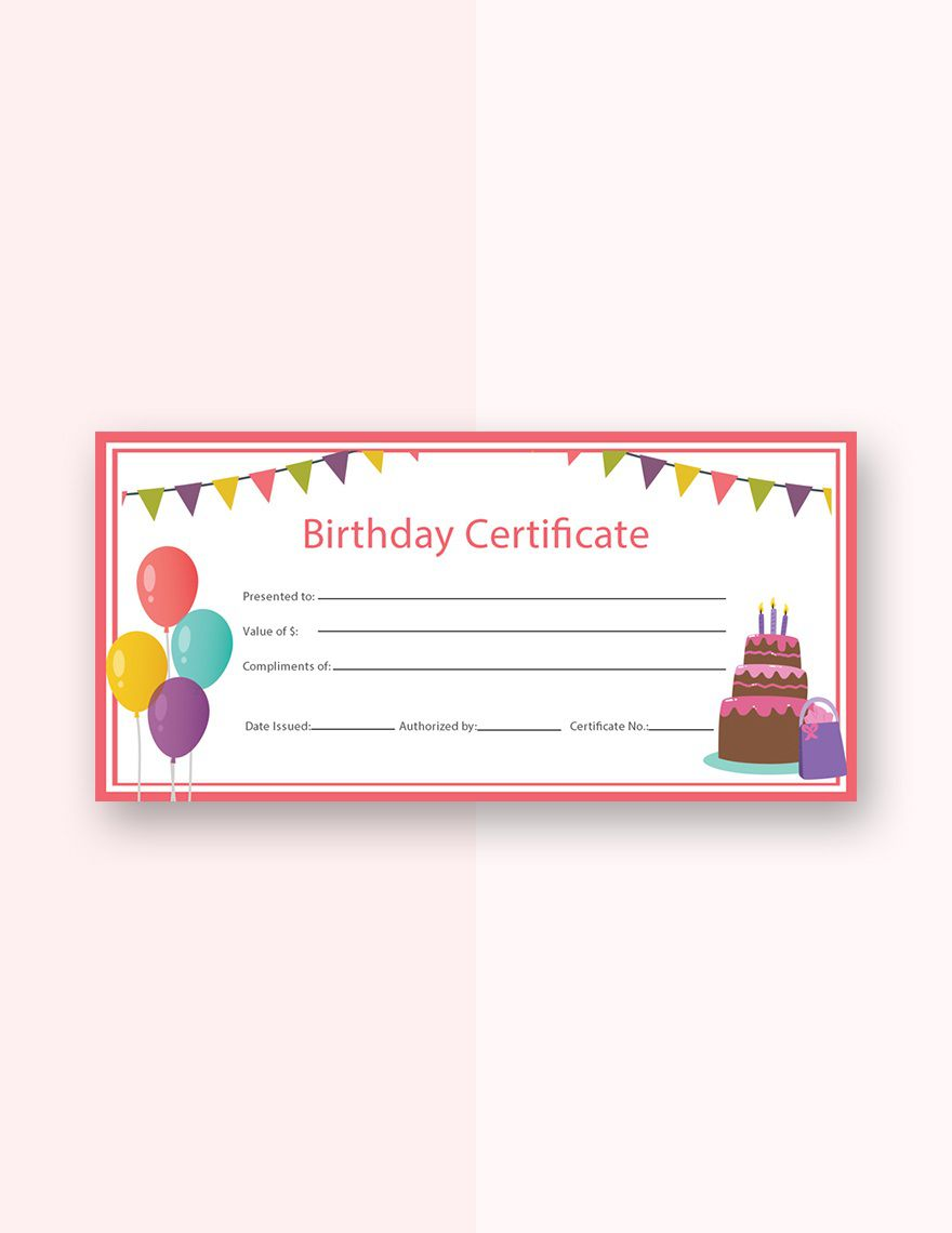 007 Sensational Free Printable Birthday Gift Voucher Template Highest Clarity Full