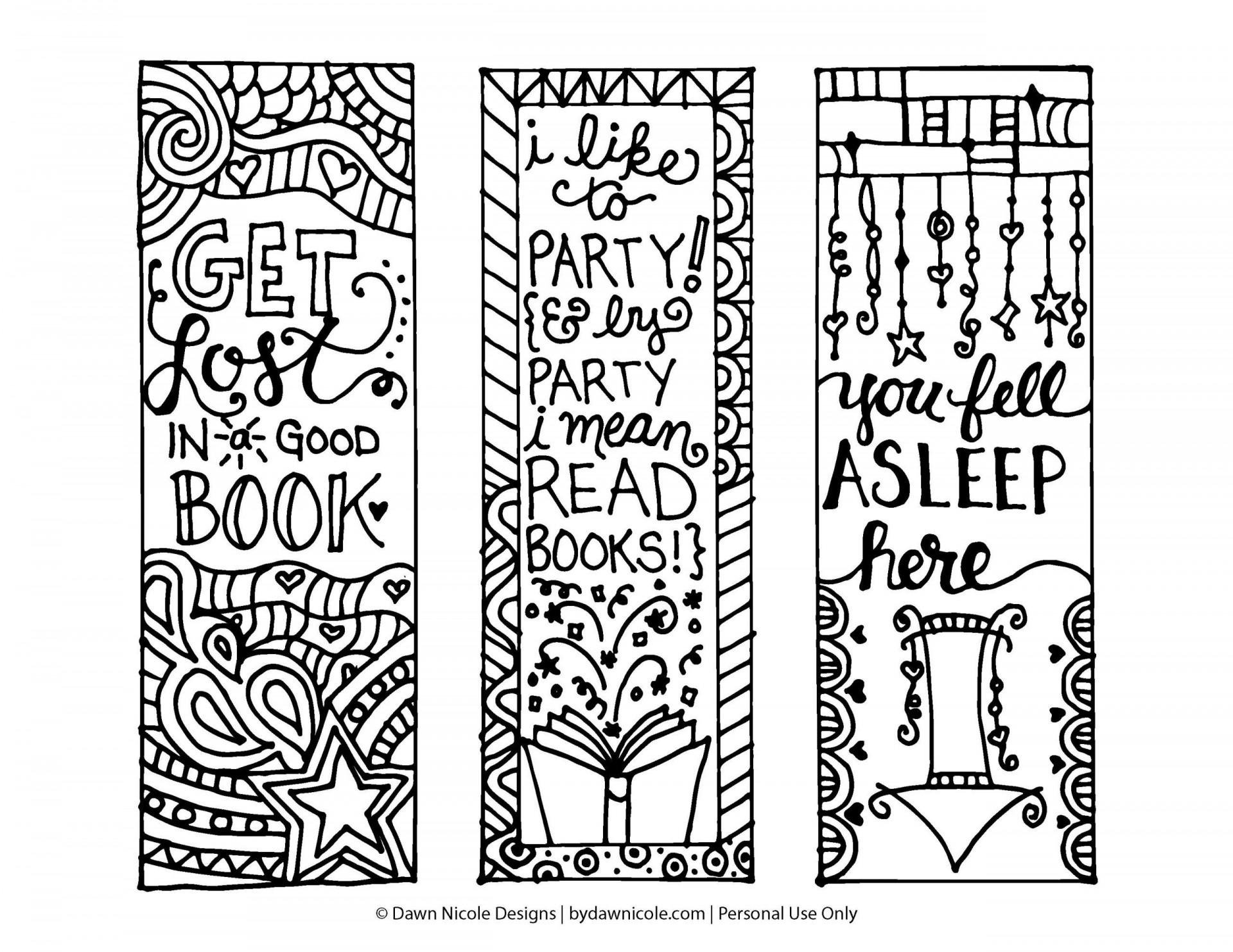 007 Sensational Free Printable Bookmark Template Example  Templates Download Photo For Teacher1920