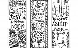 007 Sensational Free Printable Bookmark Template Example  Templates Download Photo For Teacher