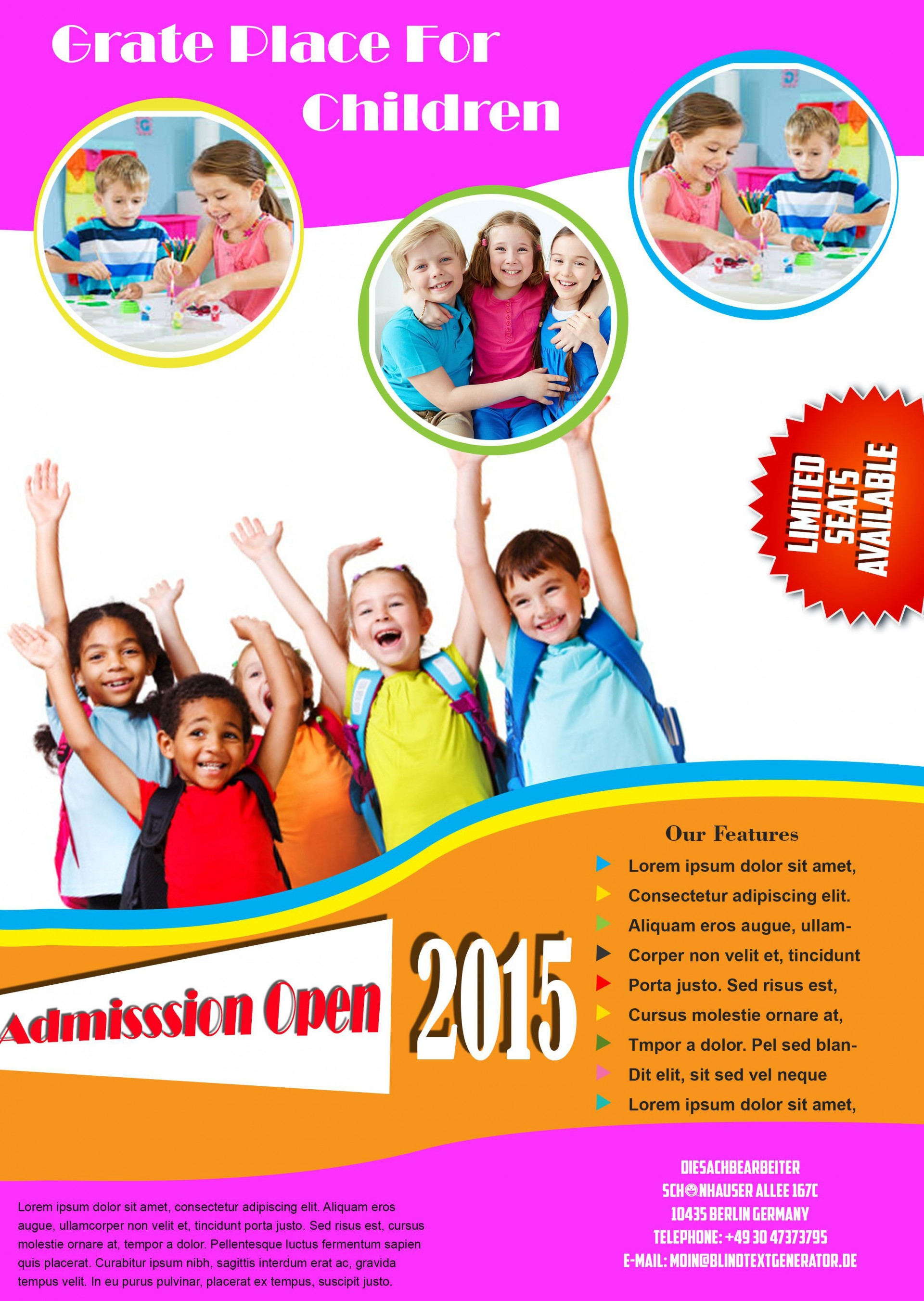 007 Sensational Free School Flyer Design Template Example  Templates Creative Education Poster1920