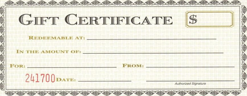 007 Sensational Gift Certificate Template Pdf Design  Free Printable