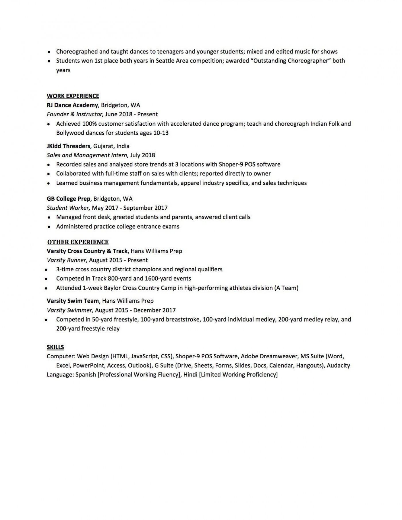 007 Sensational High School Student Resume Template Design  Free Google Doc1400